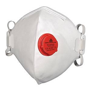 DELTAPLUS M1300VBC Atemschutzmaske mit Ventil, FFP3, 10 Stück