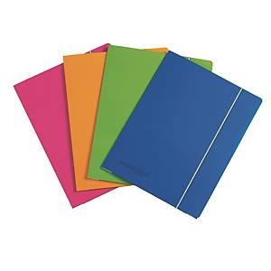 Fardes à 3 rabats carton A5 Bleu