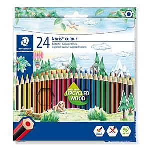 Crayons de couleur Staedtler® Noris Colour 185, la boîte de 24 crayons