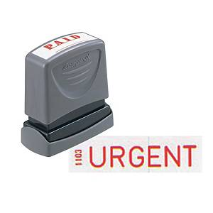 Xstamper VX Self Inking Urgent Stamp  Red