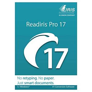 Logiciel Readiris Pro 17 pour Windows - conversion de document en texte éditable