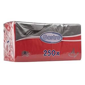 PK250 NAPKINS 2-PLY 24X24CM RED
