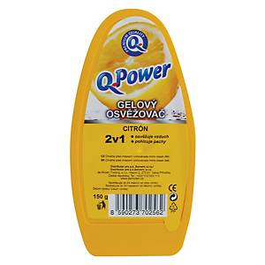 Gélový osviežovač vzduchu Q Power citrón, 150 g