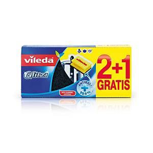 Vileda Glitzi 148074 mosogatószivacs, 3 darab