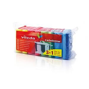 Vileda Rainbow 148037 mosogatószivacs, 4 darab