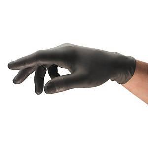 Rękawice nitrylowe ANSELL TouchNTuff® 93-250, czarne, rozmiar 7,5-8, 100 sztuk