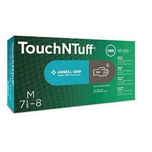 TouchNTuff® 93-250 nitril kesztyű, szürke, méret: 8,5 – 9, 100 darab/csomag