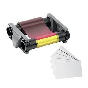 Kit di stampa DURACARD ID 300: nastro colori + 100 tessere in PVC 0,76 mm