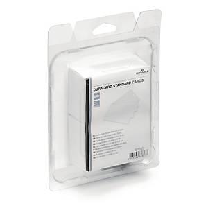 Durable 8915 Duracard muovikortti korttitulostimeen valkoinen, 1 kpl=100 korttia