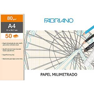 PK50 FABRIANO MILIMETER PAPER A4 80G