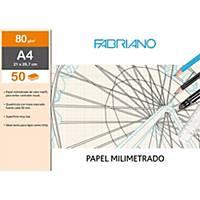 Bloc de 50 hojas Sadipal Fabriano - A4 - milimetrado