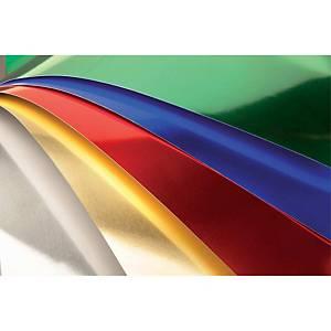 Pack de 10 cartolinas SADIPAL 50X65 225g/m2 cor prata