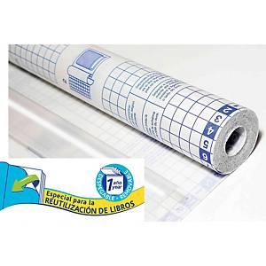 Forro de libros adhesivo desplegable Sadipal - 0,5 x 20 m