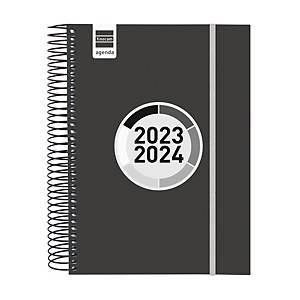 Agenda escolar Finocam label - día página - negro
