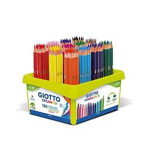 Pack de 192 lápis cores GIOTTO Stilnovo cores variados