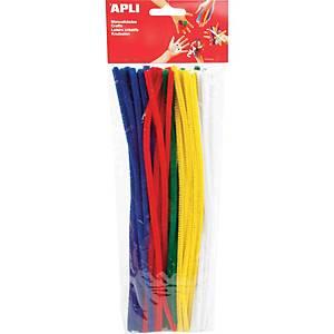 Pack de 50 limpa-cachimbos APLI cores variados