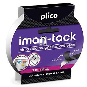 PLICO MAGNET TAPE 20MMX1M BLK
