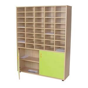 Mueble organizador para profesor con puertas verdes MOBEDUC