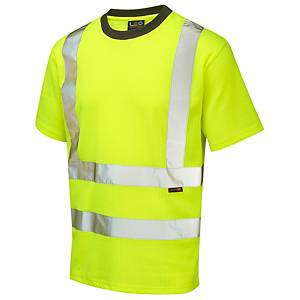 Leo TO1-Y High Visibility T-Shirt Yellow Medium