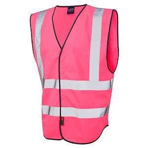 Leo WO5-Pk High Visibility Waistcoat Pink XL