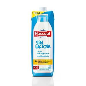 Pack de 6 briks de leche semidesnatada Pascual - 1 L