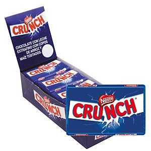 Caja de 15 paquetes de barritas de chocolate con leche y arroz crujiente Crunch