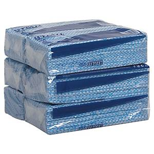 WypAll Interfolded Cleaning Cloths 7441 Blue 1 Ply - Pack of 50