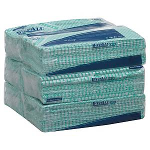 Pack de 50 panos de limpeza industriais Wypall X50 - verde
