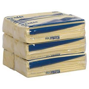 Pack de 50 panos de limpeza industriais Wypall X50 - amarelo