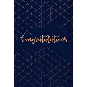 Greeting card congratulations blue - pack of 6