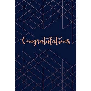 Carte de voeux de félicitations, motif à chevrons, paquet de 6