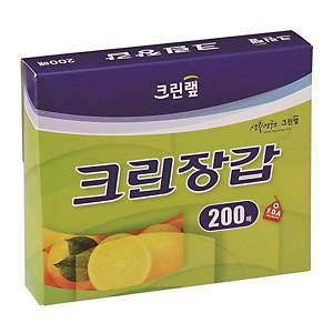 크린랲 위생 비닐 장갑 200매