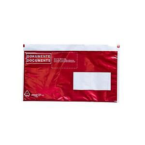 Dokumententasche VP, C5/6, Fenster rechts, rot, Packung à 250 Stück