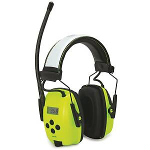 Howard Leight 1030332 Sync Hi Viz Earmuff With Digital Am/Fm Radio