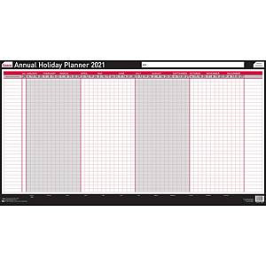 Sasco Unmounted Annual Holiday Planner - 420 X 420mm