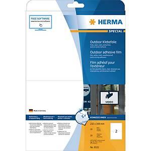 Outdoor-Folienetiketten Herma 9535, 210 x 148mm (LxB), weiß, 20 Stück