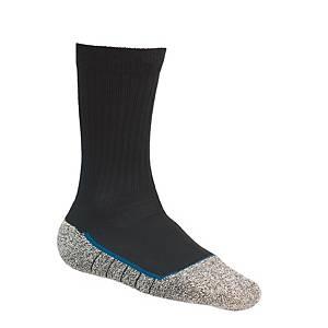 Chaussettes Bata Cool MS 2 Noir, noires/grises, pointure 43-46, la paire