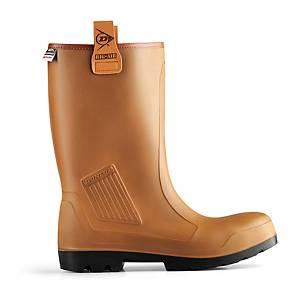 Dunlop C4627 Rig Air Boots Tan Size 9