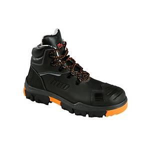 Chaussures de sécurité MTS Neon Overcap Flex, S3, noires, pointure 42, paire