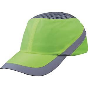 Deltaplus Air Coltan bump cap, peak 7 cm, yellow