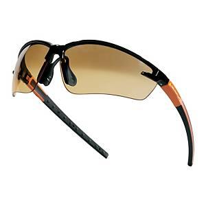 Ochranné okuliare DELTAPLUS FUJI2, hnedé