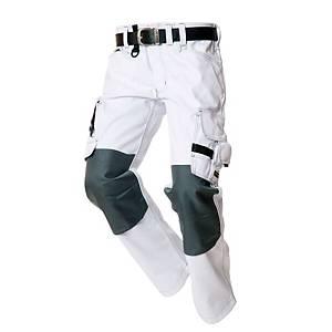 Pantalon de travail Tricorp TWC2000, blanc/gris, taille 54, la pièce