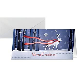 Weihnachtskarte Sigel DS017, Winters Eve, DIN Lang, 10 Stück