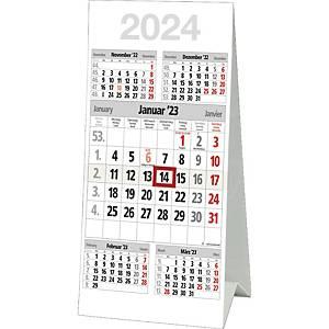Tischkalender 2020 Bühner M5TK, 5 Monate / 1 Seite, 30 x 59cm