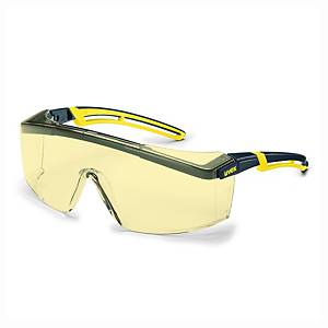UVEX 9164.220 SAFETY GLASSES BLK/YLLW
