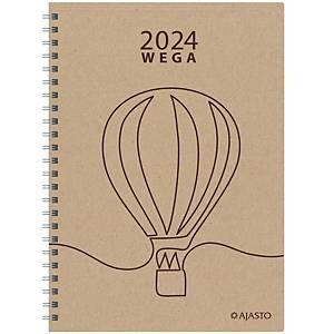 Ajasto Wega Eko pöytäkalenteri 2020 A5, lila