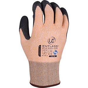 Ultimate PU300-Orange Polyurethane Coated Cut 3 Gloves Size 9 (Pair)