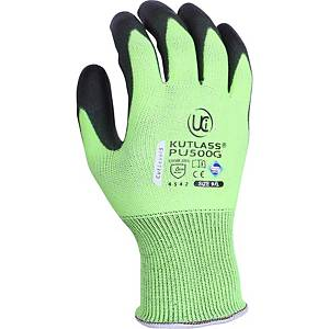 Ultimate PU500-Green Polyurethane Coated Cut 5 Gloves Size 10 (Pair)