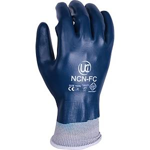 Ultimate NCN Fully Coated Nitrile Handling Gloves Blue/White Size 10 (Pair)