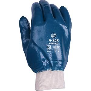 Ultimate A825 Nitrile Coated Knitwrist Handling Gloves Blue Size 9 (Pair)